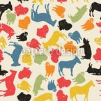 Animals On Our Farm Seamless Vector Pattern Design