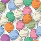 Balloons Seamless Vector Pattern Design