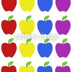Apfel Kunterbunt Nahtloses Vektormuster