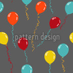 Party Balloons Seamless Vector Pattern Design