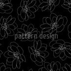 Dancing Flowers Seamless Vector Pattern Design