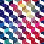 Dimension Of Stacked Squares Seamless Vector Pattern Design