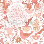 Russian Tea Party Vector Ornament