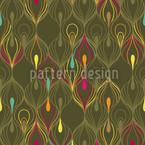 Peacock Seamless Vector Pattern Design