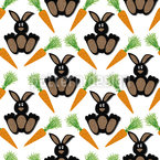 Bunny Bunny Seamless Vector Pattern Design