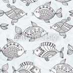 Fishpond Seamless Vector Pattern Design