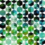 Smaragd Sexagon Designmuster