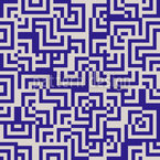 Eulatik Labyrinth Seamless Vector Pattern Design