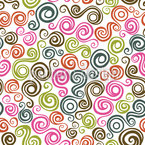 Colorful Curl Cut Design Pattern
