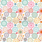 Mandala Floral Seamless Vector Pattern Design