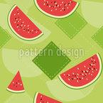Frische Wassermelonen Rapportiertes Design