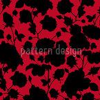 Die Schwarzen Rosen In Scarlets Garten Nahtloses Vektormuster