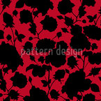 The Black Roses In Scarlets Garden Repeat Pattern