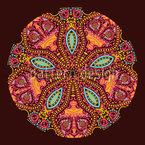 Das Mandala Der Maharani Nahtloses Vektormuster