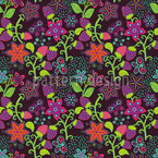 The Secret Strawberry Garden Seamless Vector Pattern Design