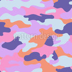 Hot Cammo Seamless Vector Pattern Design