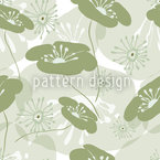 Flowers Awake Seamless Vector Pattern Design