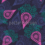 Paisley Loves Swirls Seamless Vector Pattern Design