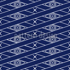 Rautenblau Musterdesign