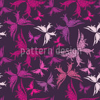 Polynesian Butterflies Seamless Vector Pattern Design