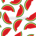 Melon Day Seamless Vector Pattern Design