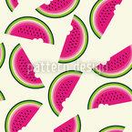 Melonen Zum Frühstück Rapportmuster