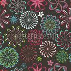 Flores Da Ciência Design de padrão vetorial sem costura