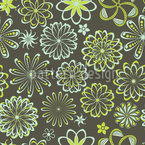 Flowers Of Natural Science Seamless Vector Pattern Design