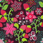 In Mums Strawberry Paradise Seamless Vector Pattern Design