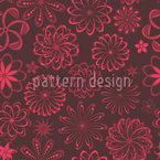 Flores Poção do Amor Design de padrão vetorial sem costura