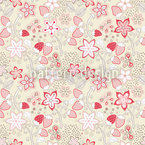 In Grannys Strawberry Paradise Seamless Vector Pattern Design