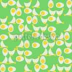 Chicken Or Egg Seamless Vector Pattern Design