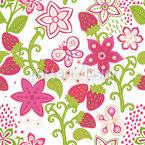 Erdbeer Paradies Muster Design
