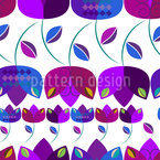 Tulips En Vogue Seamless Vector Pattern Design