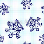 Eulen Fliegen Über Das Mathe Heft Nahtloses Vektormuster