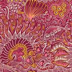 Reefgarden Mar Rojo Estampado Vectorial Sin Costura