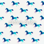 The Sprit Of The Crystal Horses Seamless Vector Pattern Design