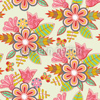 Summer Flowers Seamless Vector Pattern Design