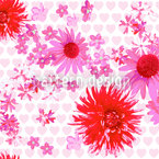 甘い花のノイズ シームレスなベクトルパターン設計