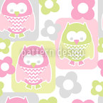 Cute Owls Seamless Vector Pattern Design