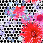 Scattered Flowers Avantgarde Seamless Vector Pattern Design