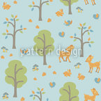 Bosque amistoso Estampado Vectorial Sin Costura