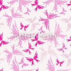 Maori Butterflies Seamless Vector Pattern Design