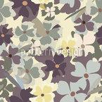 Sie Träumte Im Blumengarten Rapportiertes Design