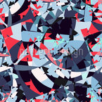 Ocean Of Broken Glass Seamless Vector Pattern Design