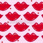 Hot Kisses Seamless Vector Pattern Design