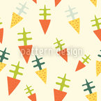 Funky Beets Seamless Vector Pattern Design