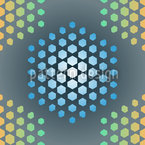 Ice Holy Hexagons Seamless Vector Pattern Design