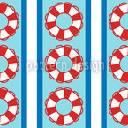 Rescue Rings On Stripes Design Pattern