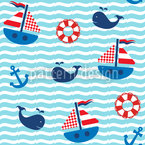 Nautical Parade Vector Ornament